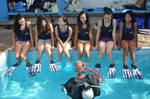 Scuba Cat Diving Phuket Thailand Beautiful Thai Girls try diving
