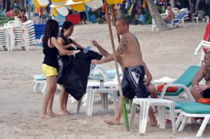 Patong Beach Clean up Scuba Cat Diving Phuket Thailand