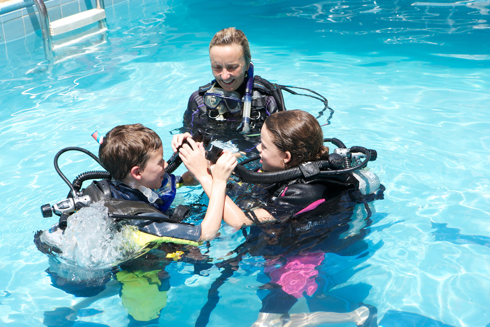 Scuba Cat Diving Phuket Thailand Learn to Dive Sarah and the kids