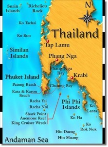 Scuba Cat Diving Phuket Thailand Dive sites