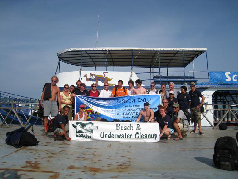 Scuba Cat Diving Phuket Thailand Project Aware Dive for Debris