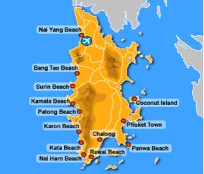 map phuket